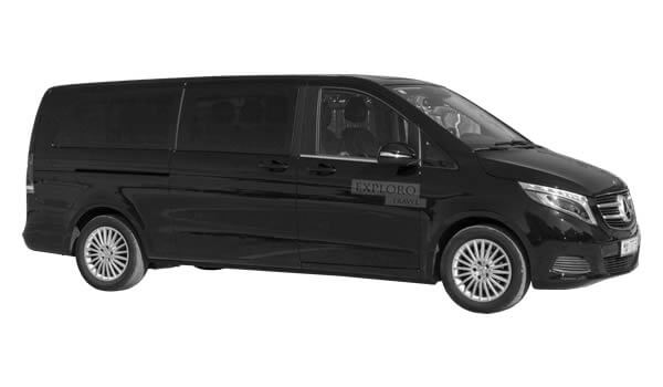 Luxury van Mercedes V Class VIP taxi transfers