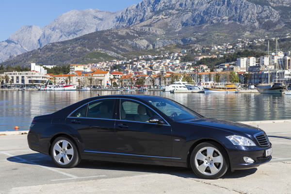 Mercedes S Class luxury taxi transfers Croatia